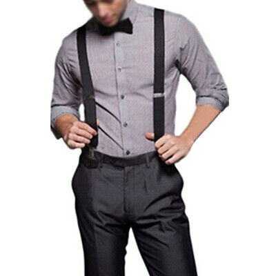 Womens Elastic Suspenders Mens Adjustable Braces Y-back Clip On For Trousers