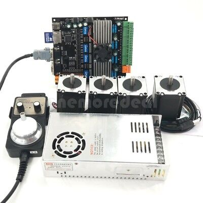 Cnc 4axis Nema23 Stepper Motors 57mdk2 Motor Controller Boardpower Kit Usb Dl