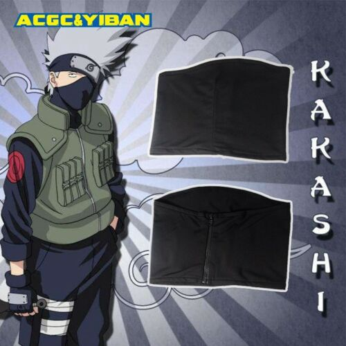 Leaf Village Ninja Headband 2pcs//Set Naruto Hatake Kakashi Cosplay Black Mask