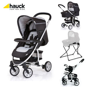 Hauck-Malibu-All-in-One-Stroller-Bassinet-Bassinet-Stand-In-Black-Brand-New