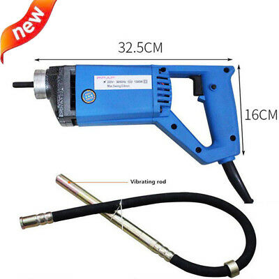 Portable 220v 1300w Electric Concrete Vibrator Hand-held Concrete Mixer 13000rpm