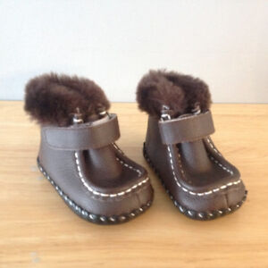 Brown Pediped Booties 0-9
