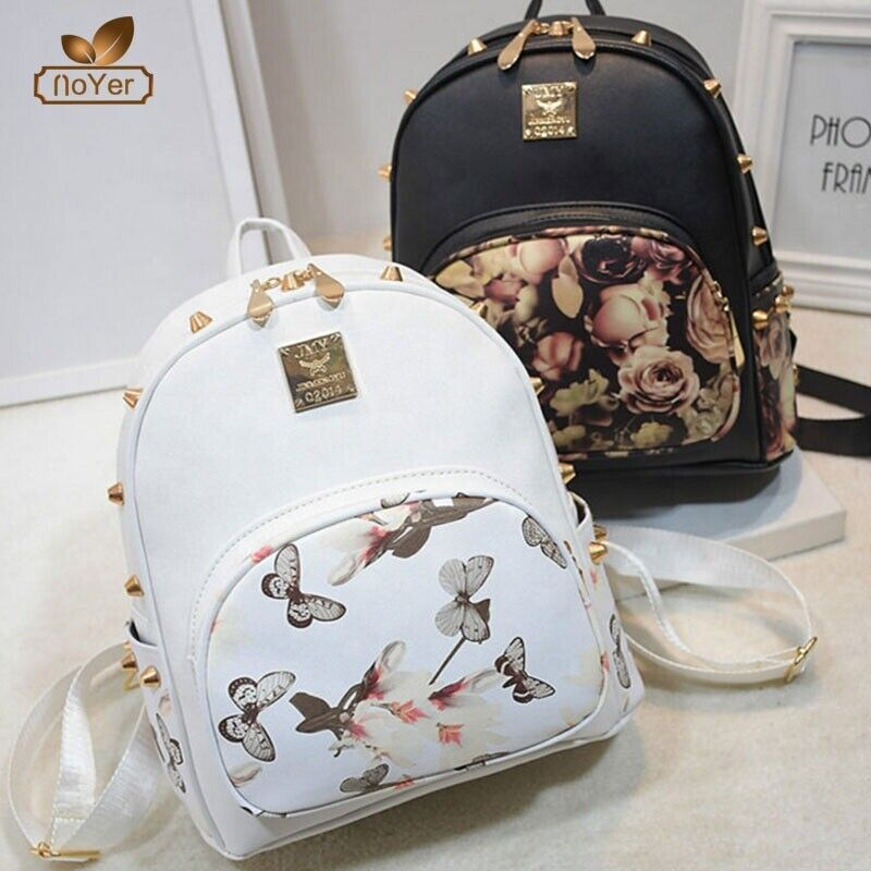 women backpack casual girl school leather crossbody