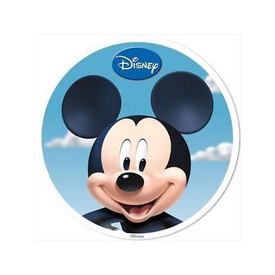 Disney Mickey, Essbares Bild, Cake Topper, Waferpapier rund 20 cm / 7,87 '' ()
