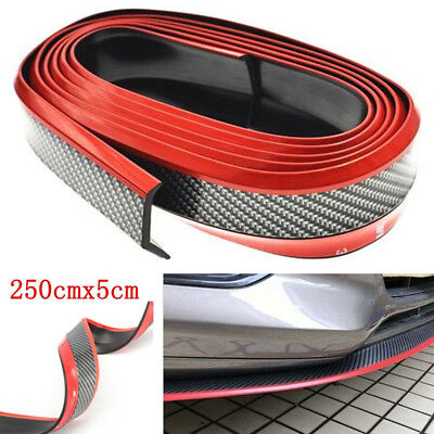 Car 2.5M PU Carbon Fiber Front Bumper Lip Splitter Chin Spoiler Body T