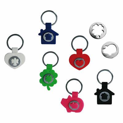 Schlüsselanhänger Silikon Glücksbringer Einkaufschip Einkaufswagen Chip (Glücksbringer Schlüsselanhänger)