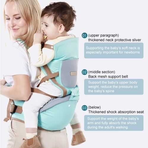 Ergonomic Kangaroo Baby Carrier Backpack with Hip Seat Front and Back Quality
