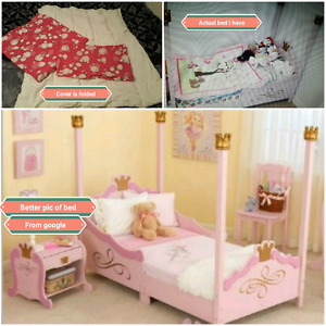 Toddler Princess Bed, mistress and duvet set