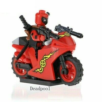 DEADPOOL AND MOTORCYCLE MARVEL COMIC MINIFIGURE FIGURE USA SELLER NEW IN PACKAGE