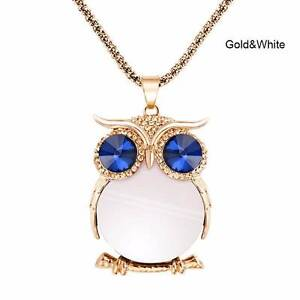 Gold & white Owl necklace - NEW. Gateshead Lake Macquarie Area Preview
