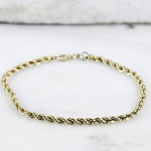 Sterling Silver 2mm Rope Chain Bracelet