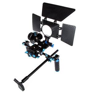 Video-Rig-Bracket-V1-Black-blue-for-DSLR-Cameras-DV-Camcorder