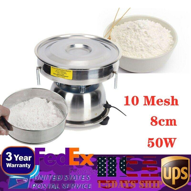 110V Electric Sieve Vibrating Machine Powder Particles Shaking Vibrator 10 Mesh