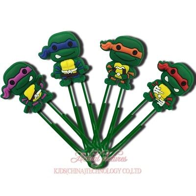4pcs Teenage Mutant Ninja Turtles Paper Clip Bookmarks Diy Office School Clips