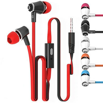 Universal 3.5mm Jack Earphone Earbud Headphone With Mic for iPhone Samsung MP3