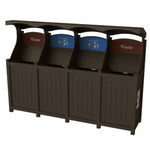 4 stream Outdoor Garbage & Recycling unit