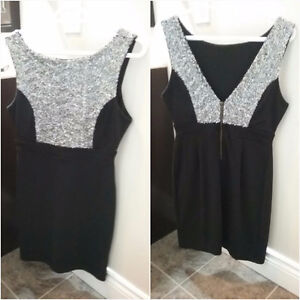 Beautiful Black Sequin Dress