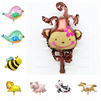 Kids Toy Horse Lion Monkey Foil Ballons Animal Birthday Party Cow Decoration Pig