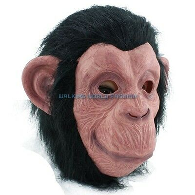 Animal Cosplay Mask Costume Gorilla Big Eared Monkey Head Mask Halloween Toys
