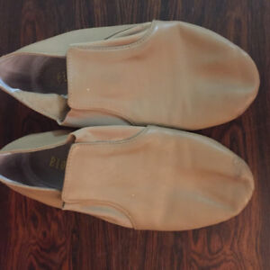 Black or Tan, Soft Leather Jazz/Dance Slippers