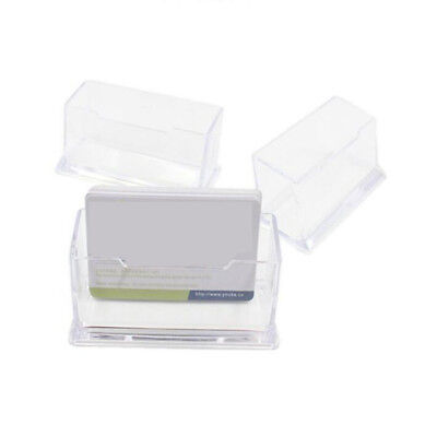 Transparent Business Office Name Credit Id Cards Single Holder Storage Supplies