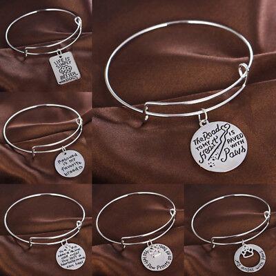 Silver Bangle Memory Pet Cute Cat Dog Paw Tags Charm Bracelet Jewelry - Cat Bangles