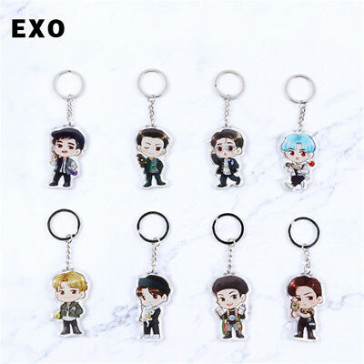 Kpop Exo The War Power Keychain Sehun Chen Acrylic Keyrings Kai Sohu Xiumin Do