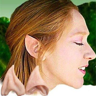 HOT FAIRY PIXIE ELF COSPLAY LARP HALLOWEEN COSTUMES LATEX POINTED PROSTHETIC EAR