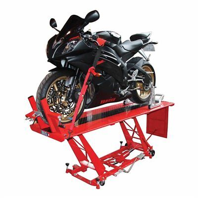 400kg Hydraulic Motorcycle Workshop Table Lift Large Work Bench Heavy Duty