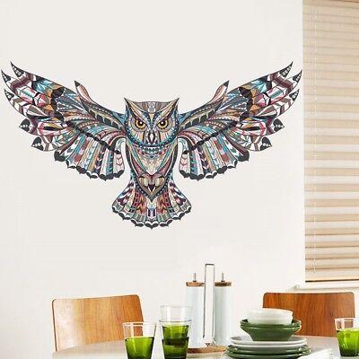 3D Owl Animal Children Bedroom Wall Sticker DIY Room Decoration Decals #LAC