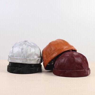 Men Women PU Leather Skullcap Casual Docker Sailor - Womens Sailor Hats