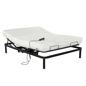 Queen size metal bed frame and mattress