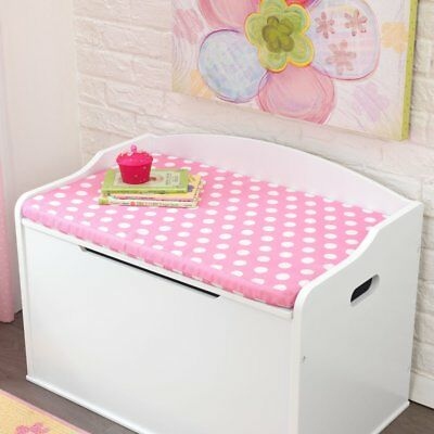 KidKraft Austin Toy Box Cushion - Polka Dots - 14111, Pink