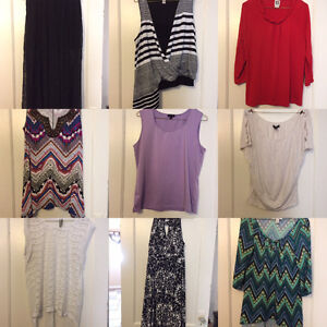 54 WOMENS TOPS FOR $100 ***LESS THEN $2 AN ITEM**
