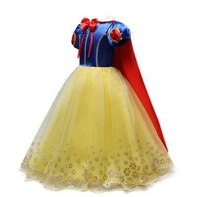 Princess Snow White Dress Up Kids Dresses for Girls Halloween Party Fancy Dress](Dresses For Girls For Party)