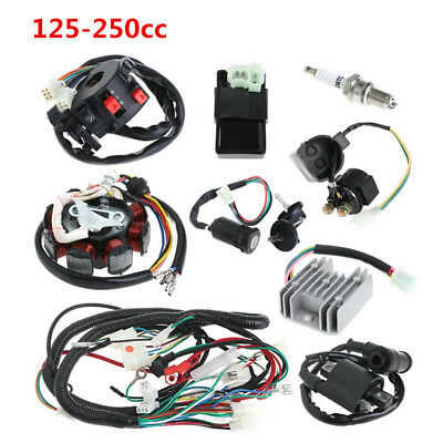 1 Set Motorcycle ATV Quad 150cc Electrics Stator Wire Loom Coil CDI Solenoid Kit