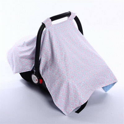 Baby Car Seat Cover Extra Large Unisex Nursing Fine Shade Infant Girl Boy Canopy