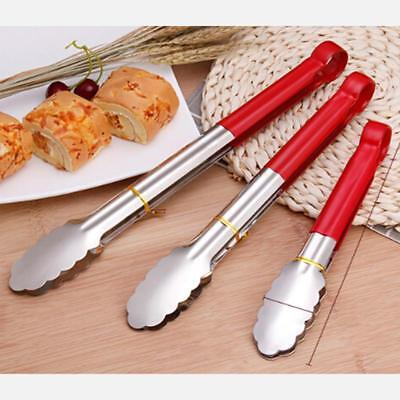 Stainless Steel Red Tongs Deli Buffet Serving Catering Tong Q Red Stainless Steel Tong