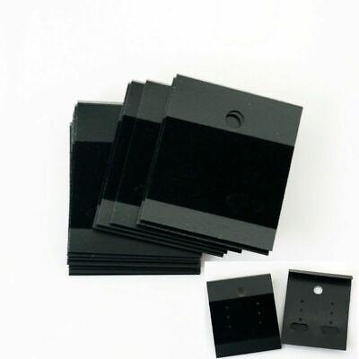 100x Velvet Jewelry Earring Studs Display Holder Hanging Cards Flocked Black