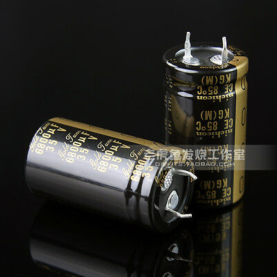 2pcs Nichicon Kg Gold Tune 6800uf 35v Audio Electrolytic Capacitor 85 E196 Yx