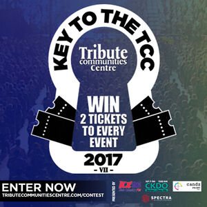 Enter to win 2 tickets to EVERYTHING in 2017 at Oshawa venue
