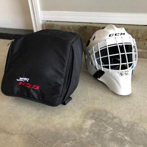 CCM goalie helmet with case