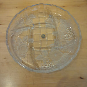 Crystal Serving Dish (never been used)