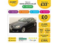 Lexus IS 220d 2.2TD 2010MY SE-I FROM £33 PER WEEK !