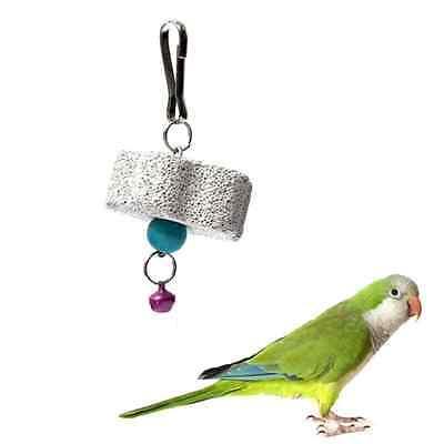 Nice Pet Bird Parrot Chew Bite Toys Cockatiel Parakeet Flower Type Molar Stone