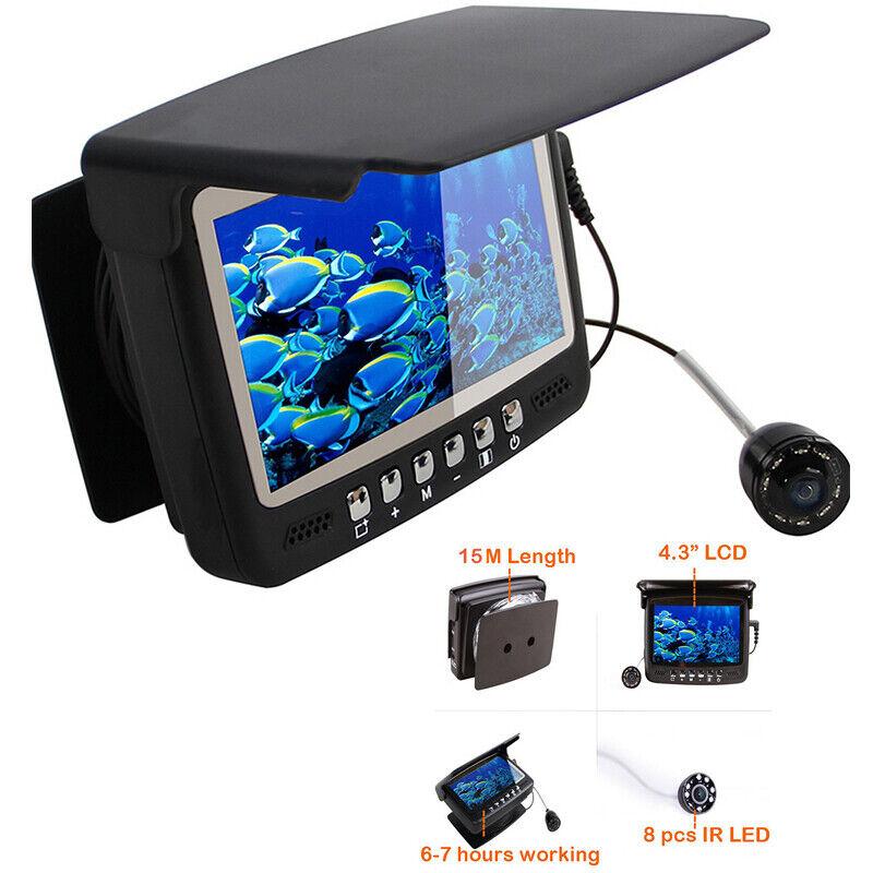 "4.3"" Display Fish Finder Underwater Fishing Camera Fishing Depth Tracker Locator"