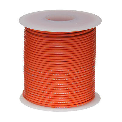 24 Awg Gauge Solid Hook Up Wire Orange 100 Ft 0.0201 Ul1007 300 Volts