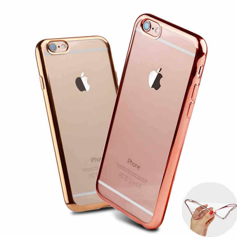 NEW TRANSPARENT Crystal Clear Case Gel TPU Soft Cover Skin FOR I PHONE 5SE,6S 6+