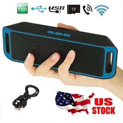 Portable Wireless Bluetooth Speaker FM Stereo For Smart Phone iPhone Tablet PC ()