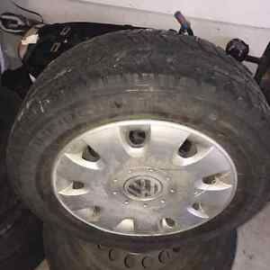 195 65 15 winter tires 5 X 112 Bolt pattern off VW